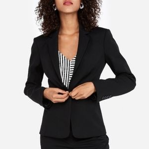 NWT Express black blazer Notch collar one button